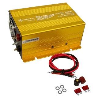 600 Watt 12 V Spannungswandler Inverter Solartronics für Solar, Reiner Sinus