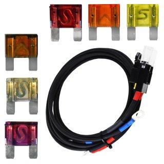 Verbindungskabel vom Laderegler zur Batterie inkl. wählbare Sicherung 20 - 100 A