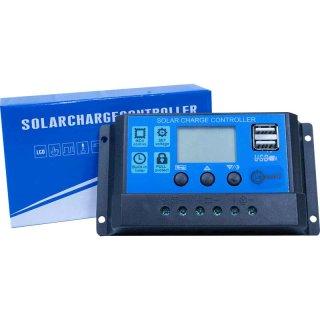 10 A PWM Solar Laderegler mit Display 12 V / 24 V für Inselanlage Solaranlage