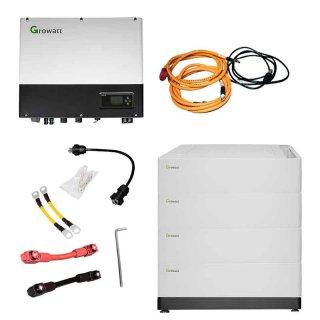 Hybrid-Wechselrichter Growatt SPH4600, wählbarer Solarspeicher 2,56-10,24 kWh